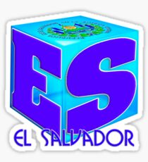 El Salvador cubo Sticker