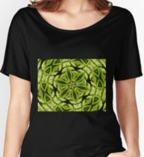 Intricate green leaf mandala. Women's Relaxed Fit T-Shirt