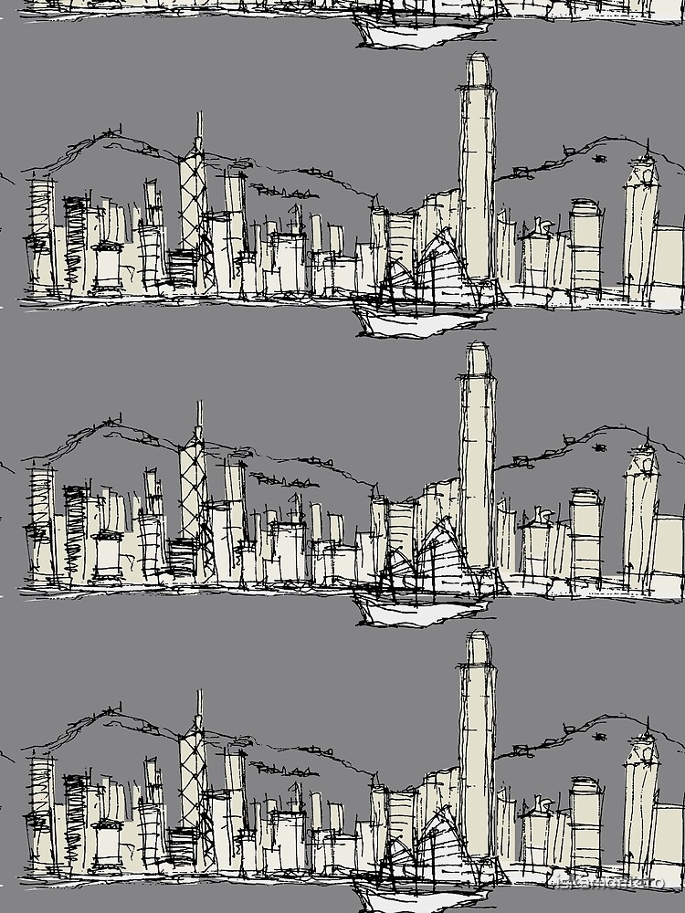 Hongkong Silhouette by iskamontero