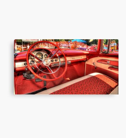 1956 Ford Interior Canvas Print