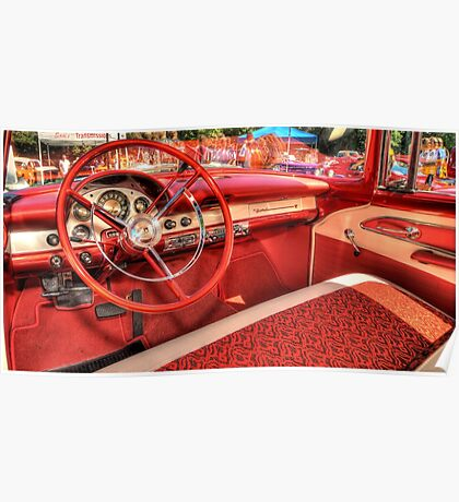 1956 Ford Interior Poster