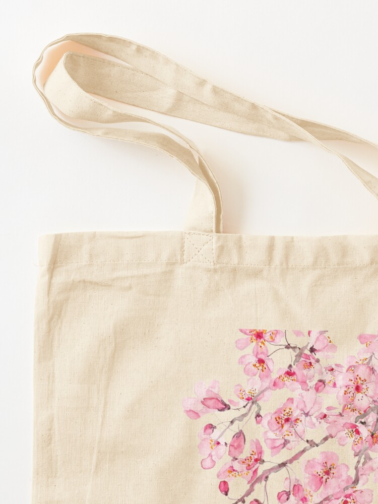 Alternate view of pink cherry blossom watercolor 2020 Tote Bag