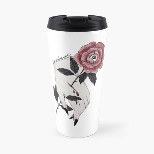 Eyes From The Rose Travel Mug