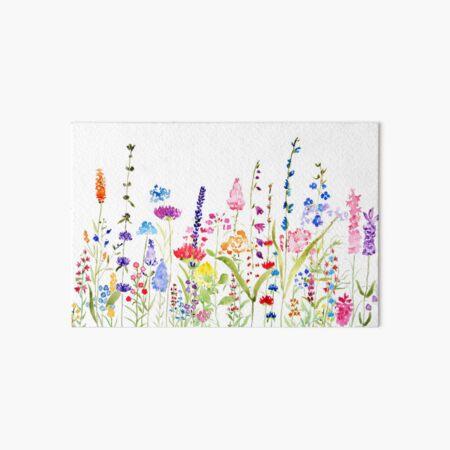 colorful wild flower field  Art Board Print