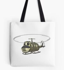 Military Helicopter Cartoon Tote Bag