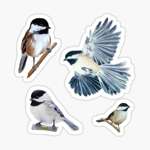 Chickadee Sticker set & pattern Sticker