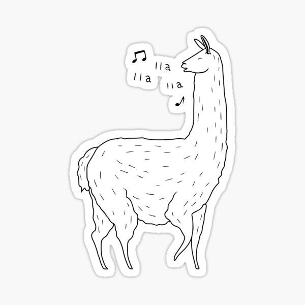 Llama Song Roblox Llama Song Stickers Redbubble