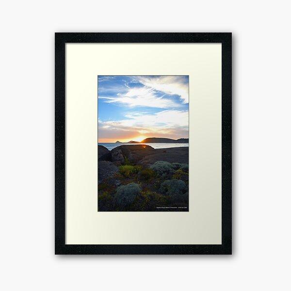 Squeaky Beach, Wilsons Promontory Framed Art Print