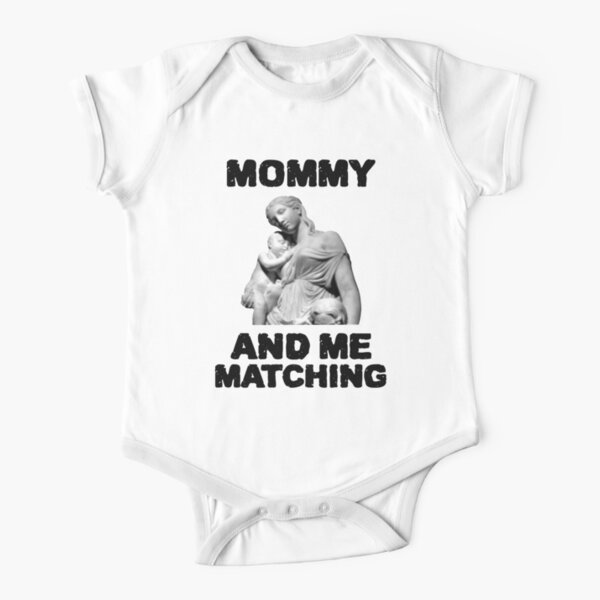 MOMMY AND ME MATCHING  Short Sleeve Baby One-Piece