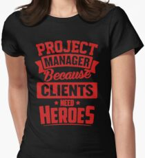 Project Manager Heroes Women's Fitted T-Shirt