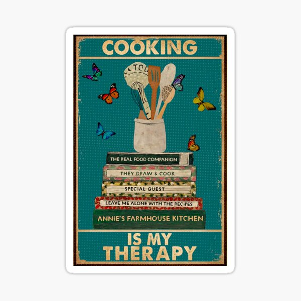 Cooking Is My Therapy Sticker