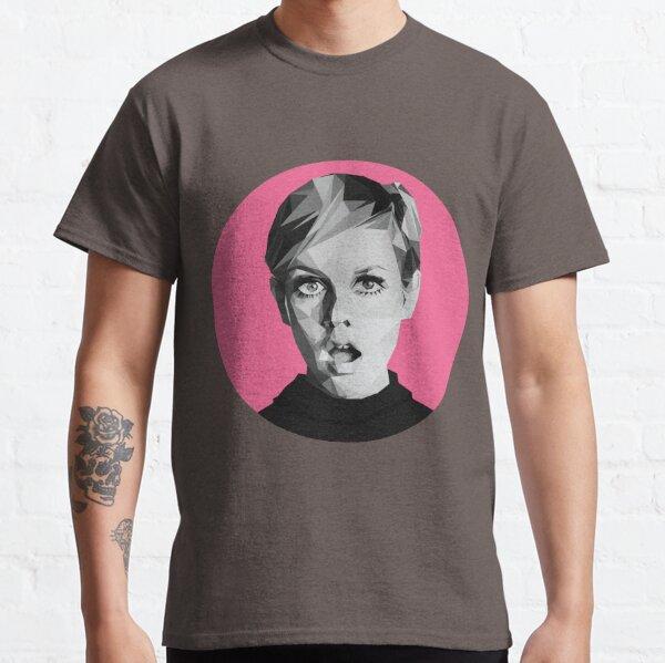 Twiggy low-poly portrait Classic T-Shirt