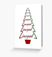 Liverpool - Christmas Tree Gifts & Cards Greeting Card