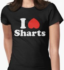 I Heart Sharts Womens Fitted T-Shirt