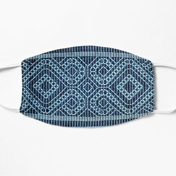 Coptic pattern design - blue  Flat Mask
