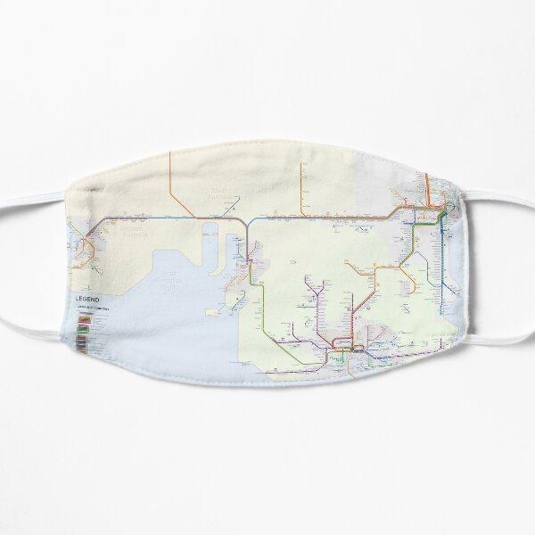 Australian Rail Map Flat Mask