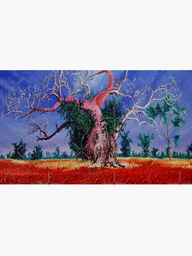 Outback Boab Tree - Print of Oil on canvas original artwork by RipeBananaShop