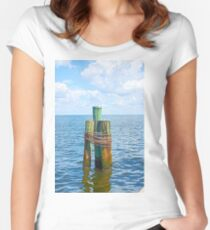 Three Friends in the Sea Women's Fitted Scoop T-Shirt