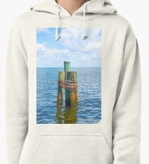 Three Friends in the Sea Pullover Hoodie