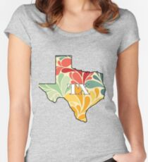 Floral Texas Women's Fitted Scoop T-Shirt