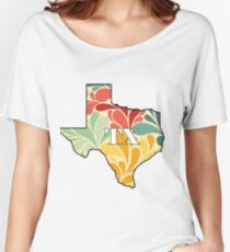 Floral Texas Women's Relaxed Fit T-Shirt
