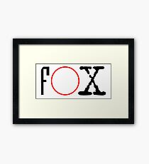 FOX - X files Framed Print