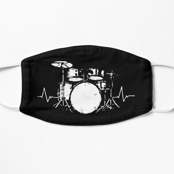 Drum Set Heartbeat Masks Flat Mask