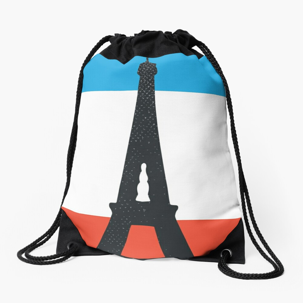 Paris Drawstring Bag