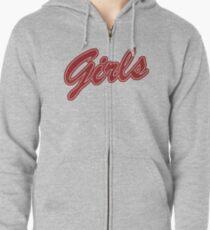 Girls (Red) Zipped Hoodie