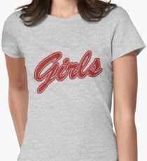 Girls (Red) Women's Fitted T-Shirt