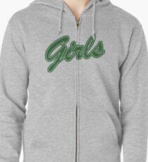 Girls (Green) Zipped Hoodie