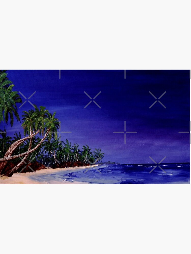 Pacific Ocean Islands  - Original artwork oil on canvas by RipeBananaShop