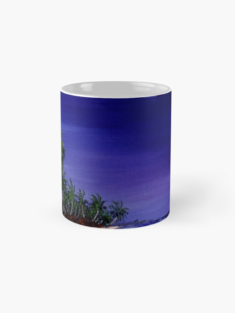 Alternate view of Pacific Ocean Islands  - Original artwork oil on canvas Mug