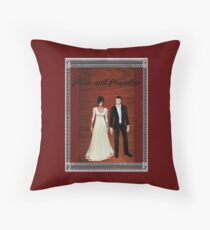 Pride and Prejudice Darcy and Lizzy 2 Throw Pillow