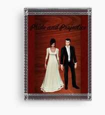 Pride and Prejudice Darcy and Lizzy 2 Canvas Print