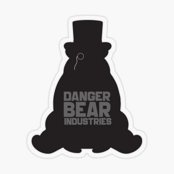 Top Hat Bear from Danger Bear Industries Transparent Sticker
