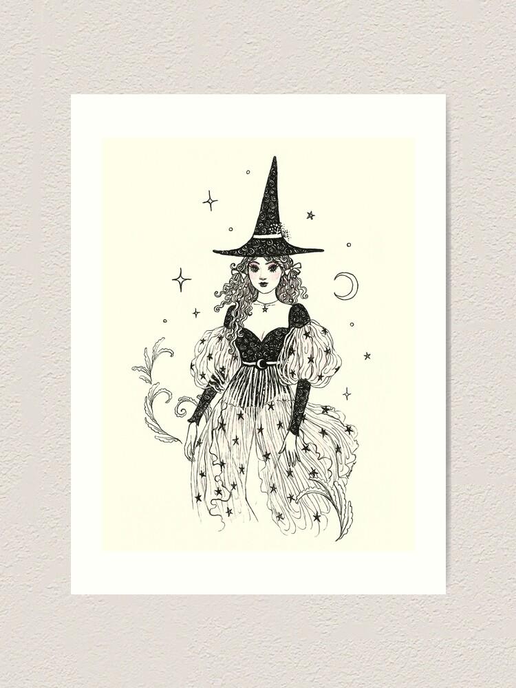 Alternate view of Witch Fashion 1 Art Print