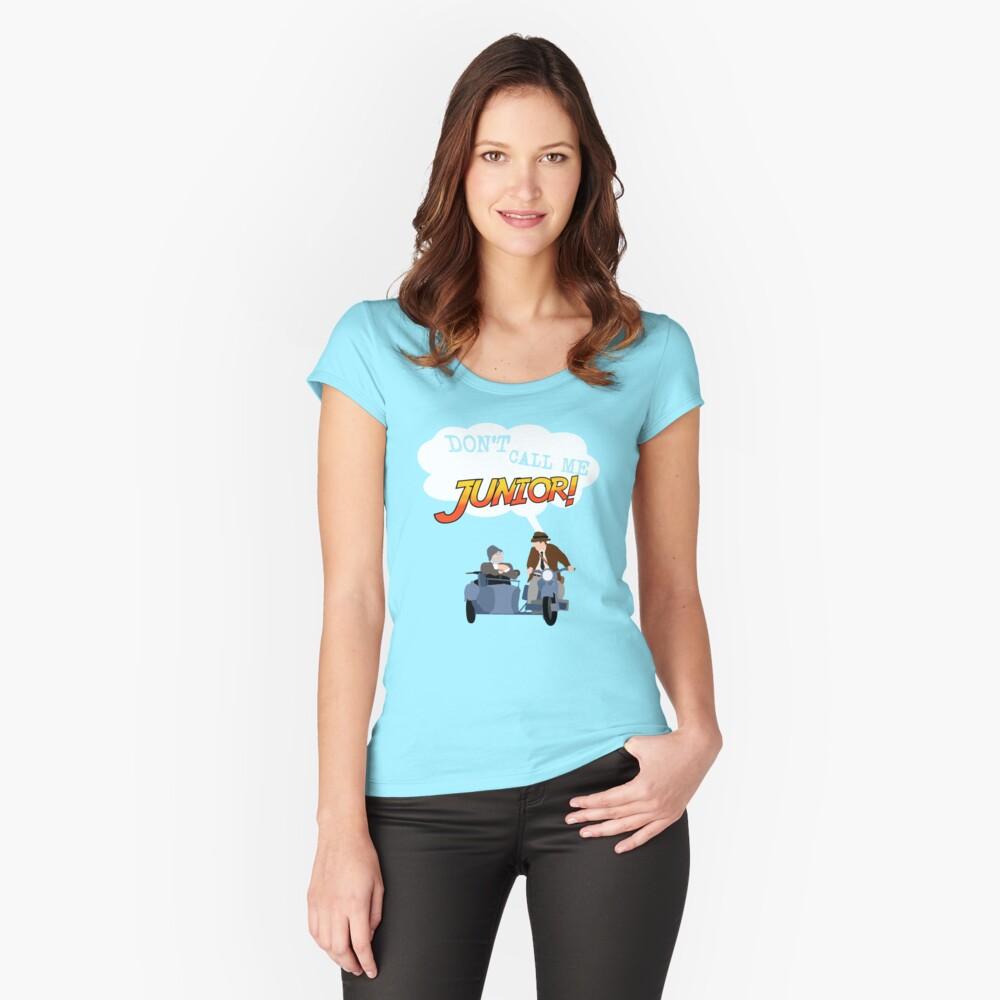 Ruf mich nicht Junior an! Tailliertes Rundhals-Shirt