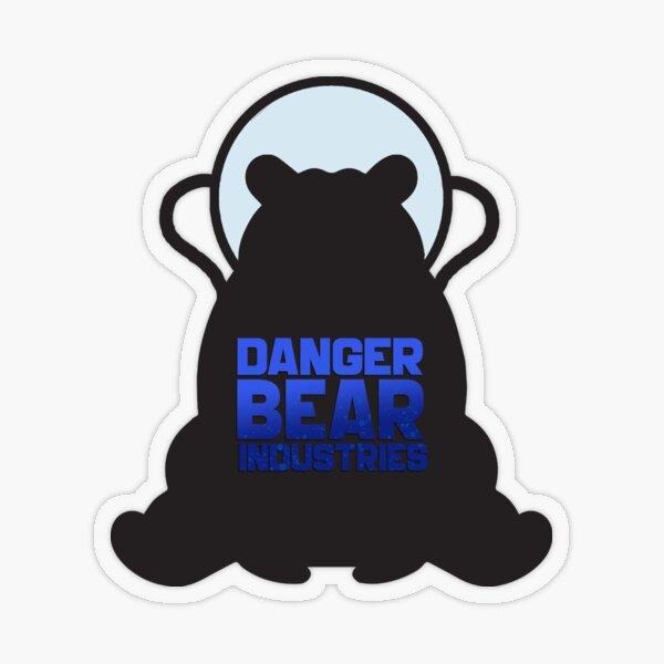 Space Bear from Danger Bear Industries Transparent Sticker