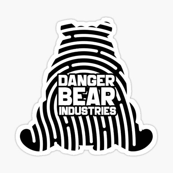 Mystery Bear from Danger Bear Industries Glossy Sticker