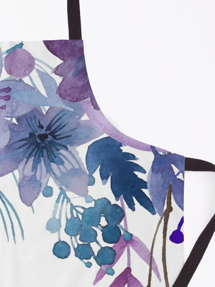 Alternate view of Blue Purple Flowers Apron