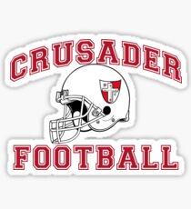 Crusader Football - Red Sticker