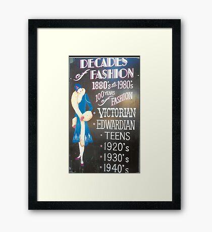 Retro Fashions In Haight-Ashbury Framed Print