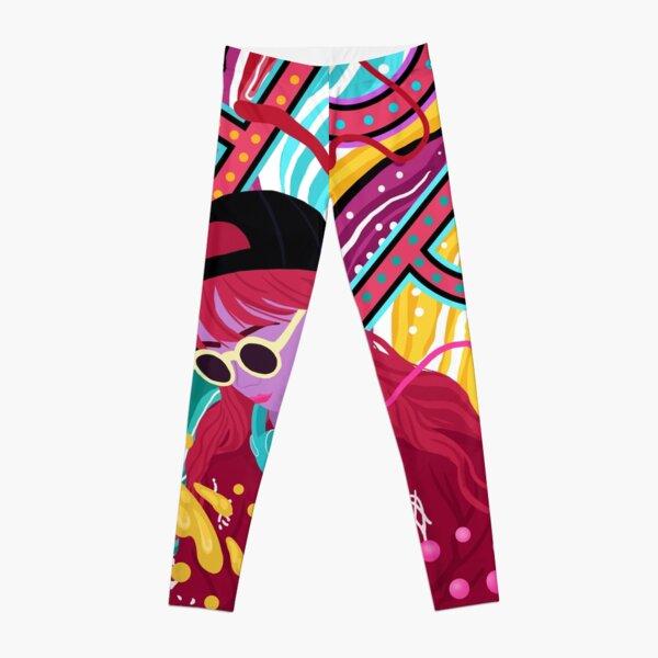Cool Hip Hop girl design. Cute, colourful & amazing art Leggings