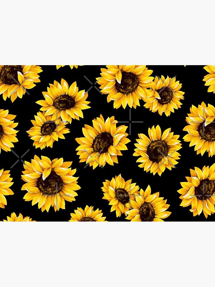 Sun flowers floral pattern - yellow flower by Rakeshmurugan