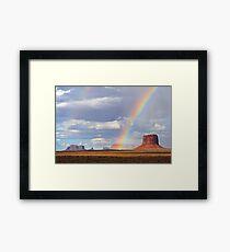 Double Rainbow over Monument Valley, Arizona, USA Framed Print