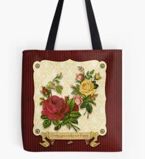 Loving You Makes Me Happy Elegant Roses Damask Tote Bag