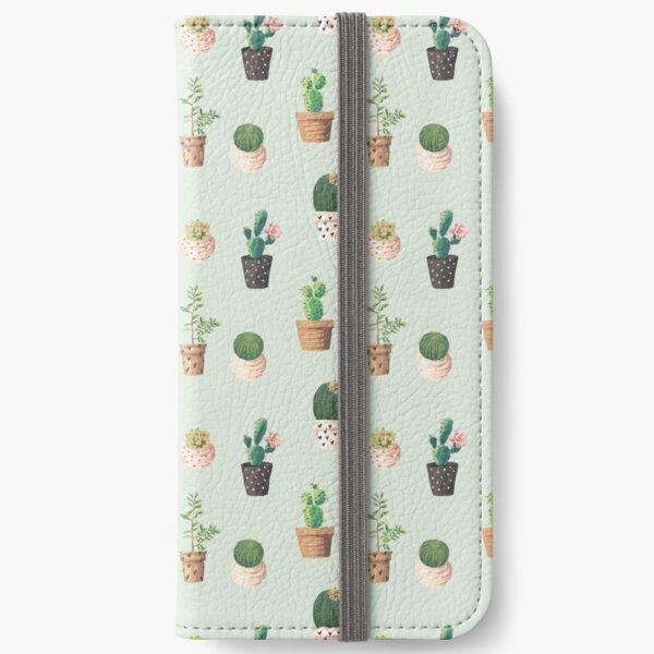 Cactus Pattern iPhone Wallet