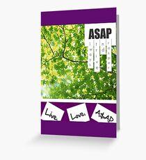 Live.Love.A$AP Greeting Card