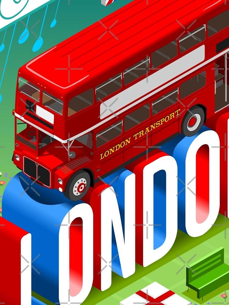London-Bus-Postcard-Isometric by aurielaki